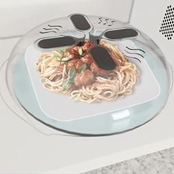 New Food Splatter Guard Microwave Hover Anti-Sputtering Cove