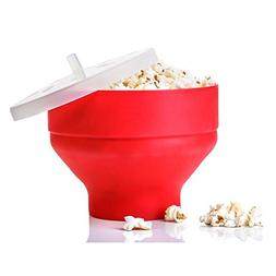 ACTLATI Functional Popcorn Bucket with Lid Microwaveable DIY