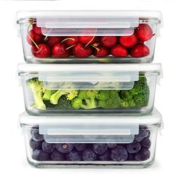 SIMPLYESTA Glass Food Storage Containers - Glass Meal Prep