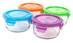 Wean Green Glass Food Storage Containers, Lunch Bowl 12 ounc