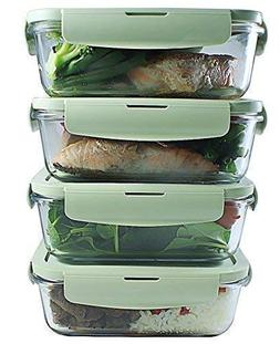 Glass Meal Prep Containers | Airtight Glass Food Storage Con