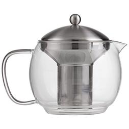 Chef's Secret 40oz Glass Tea Pot with Stainless Steel Infuse