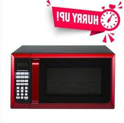 Hamilton Beach Stainless Steel Red Microwave Oven, Touch pad