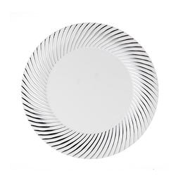 "Party Essentials 24-Count Hard Plastic 6"" Divine Dinnerware"