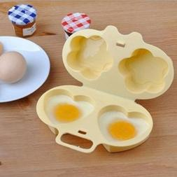 1x Kitchen Heart-shaped Egg Steamer Cooking Flower Type Mold