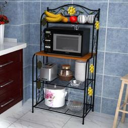 Home Kitchen Baker's Rack Utility Microwave Stand Storage Ca