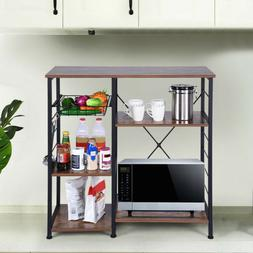 Home Kitchen Rack Microwave Oven Stand Metal Frame Storage S