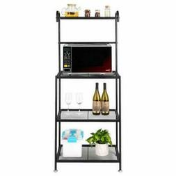 HOT Kitchen Bakers Rack Home Microwave Stand Storage Shelf W