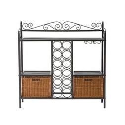 Svitlife Kitchen Dining Baker's Rack with Wine Storage and R