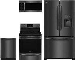 """Frigidaire 4-Piece Kitchen Package with FGHB2868TD 36"""" Frenc"""