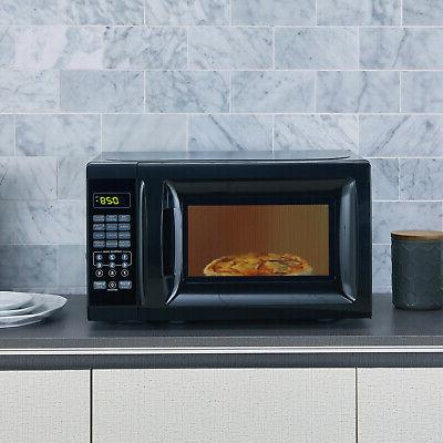 Mainstays 0.7 Cu. Ft. 700W Black Microwave With 10 Power Each