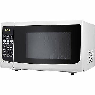 DANBY 0.7 Cu. Ft. 700W White Countertop Microwave Oven DMW77