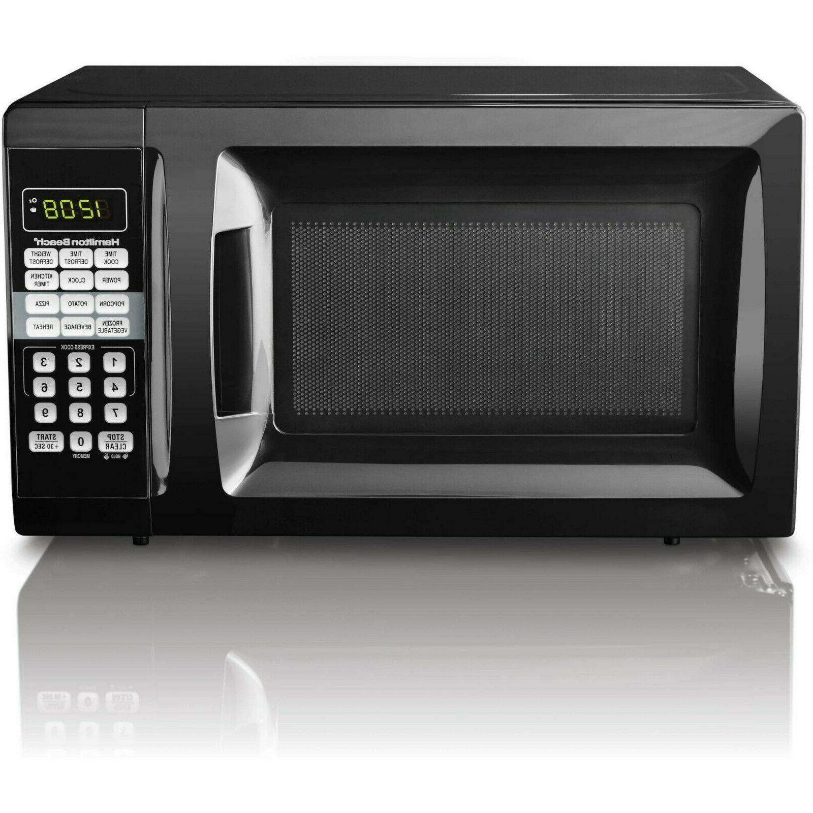 0 7 cu ft black microwave oven