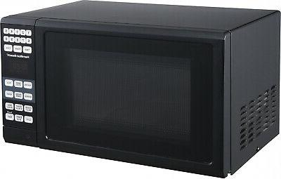 Microwave Black Kitchen Countertop Small Compact Dorm Home Cook
