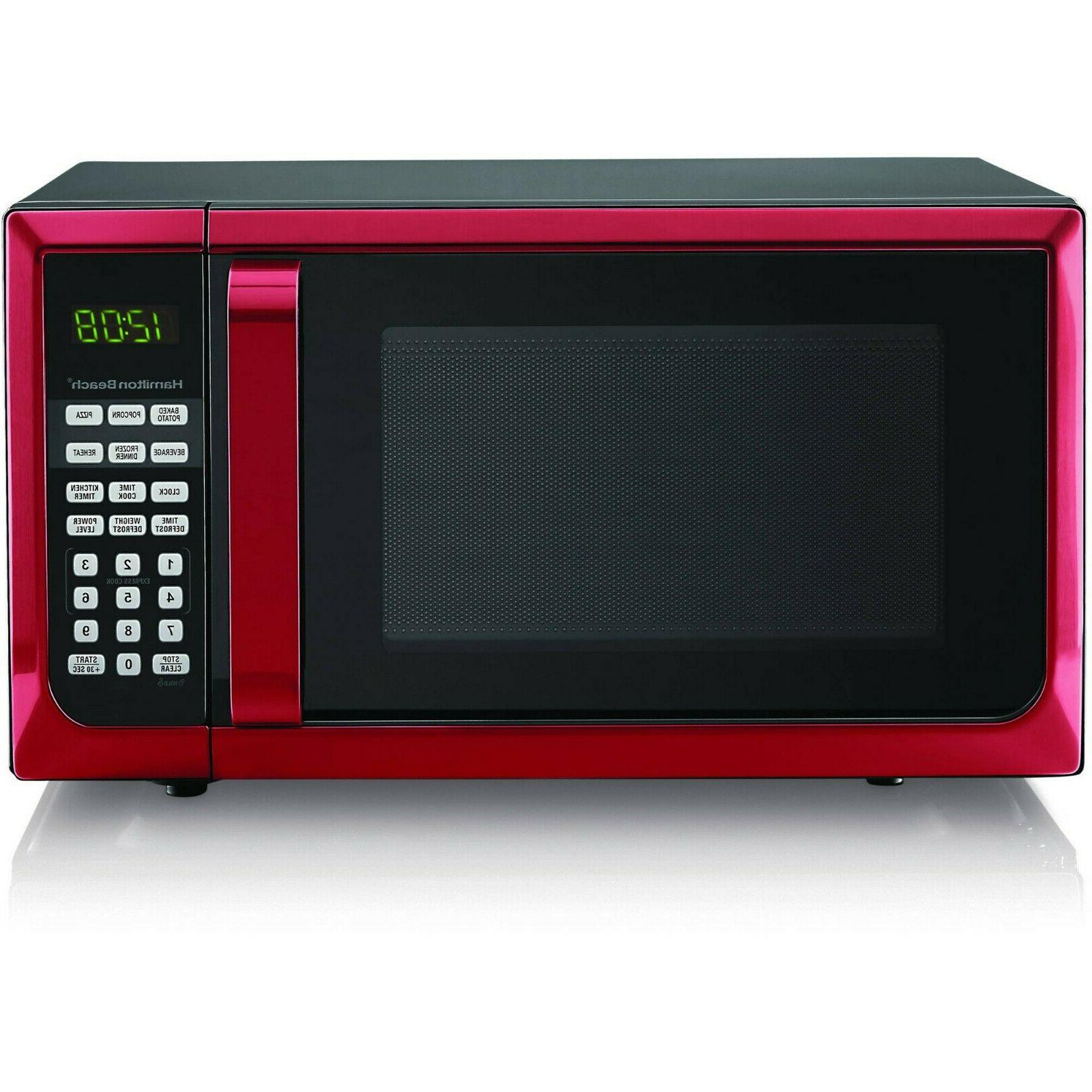 0 7 cu ft red white microwave