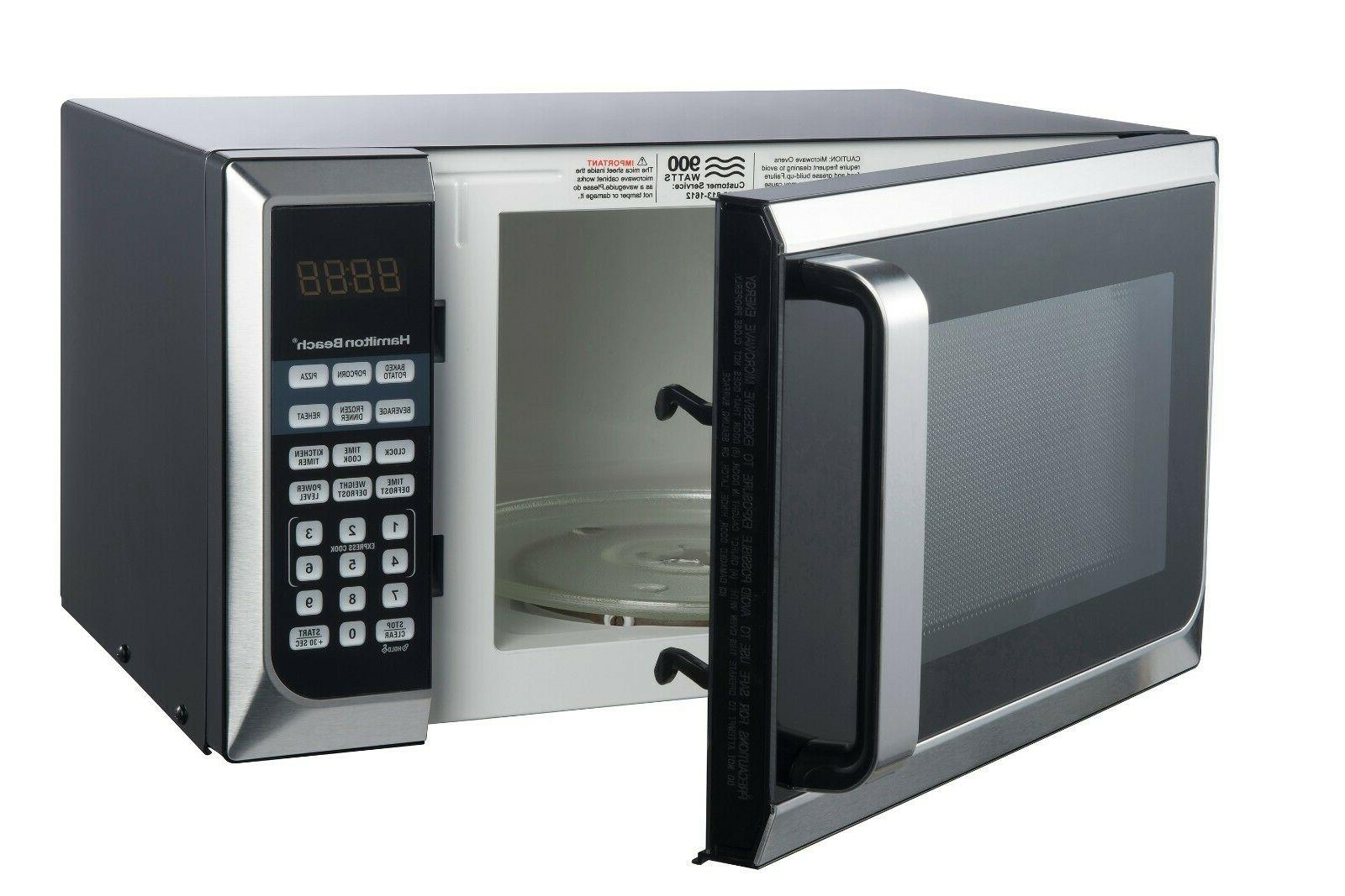 STAINLESS 0.9 cu.ft Microwave 900W cooking