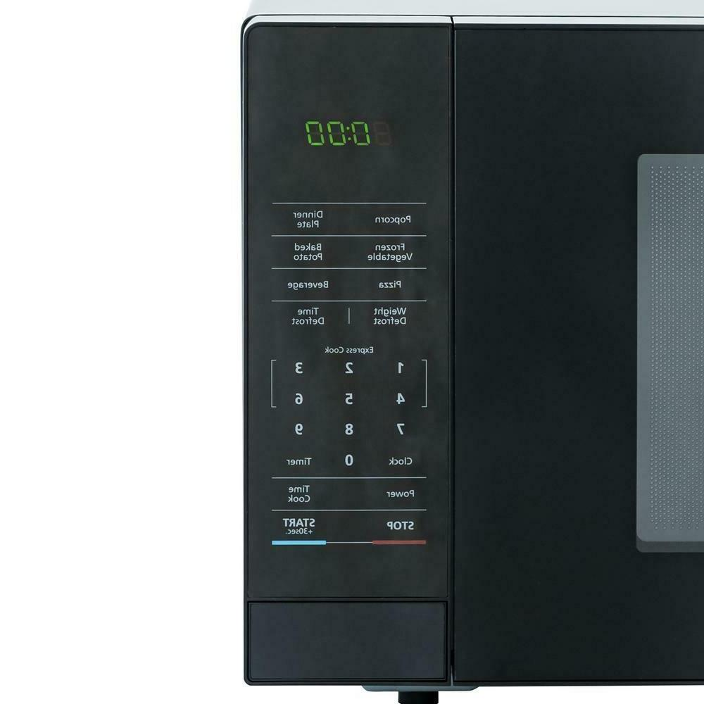 1.1 ft. Countertop Microwave Black with Gray Cavity Use