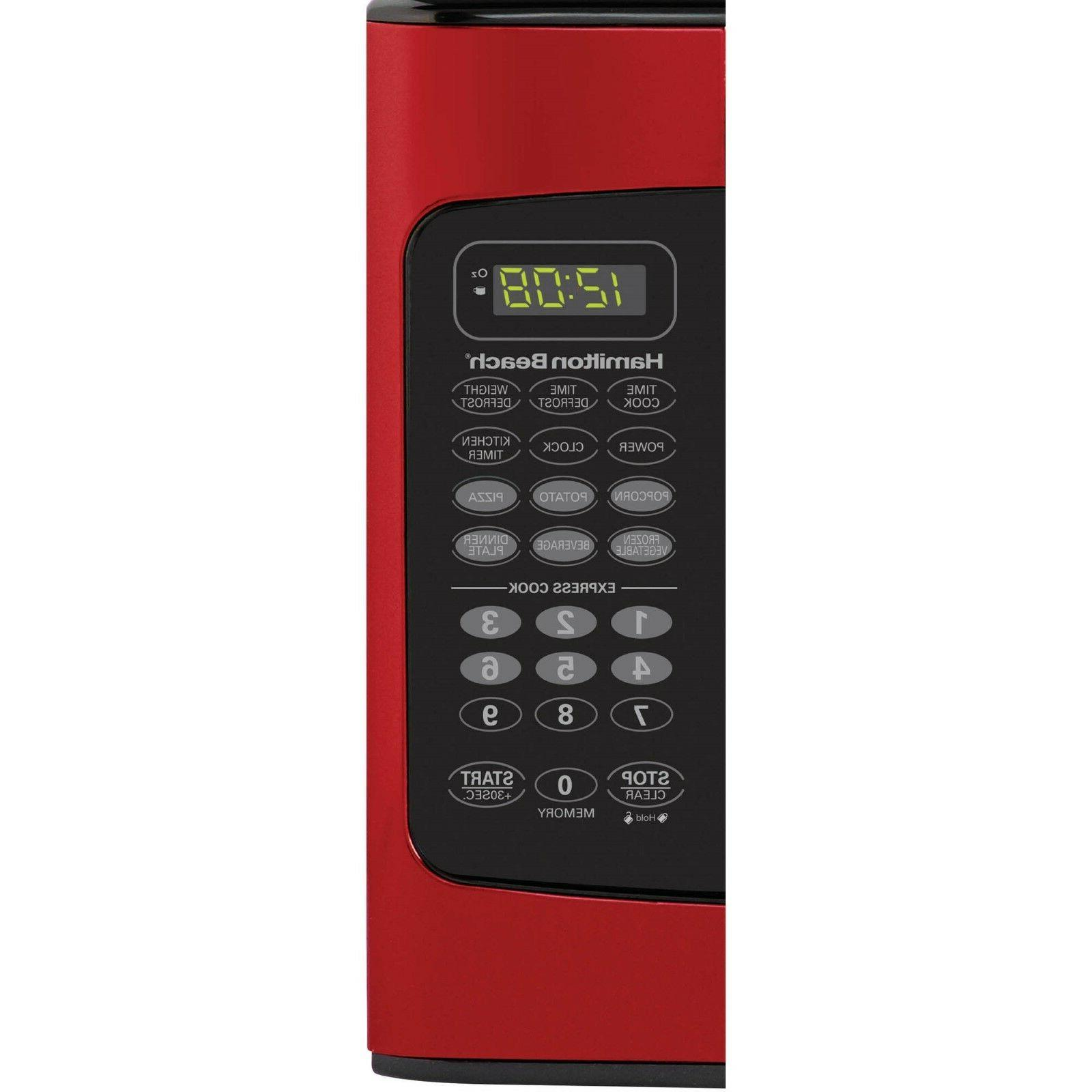 Hamilton FT Microwave 1000W Display Red Child-Safe