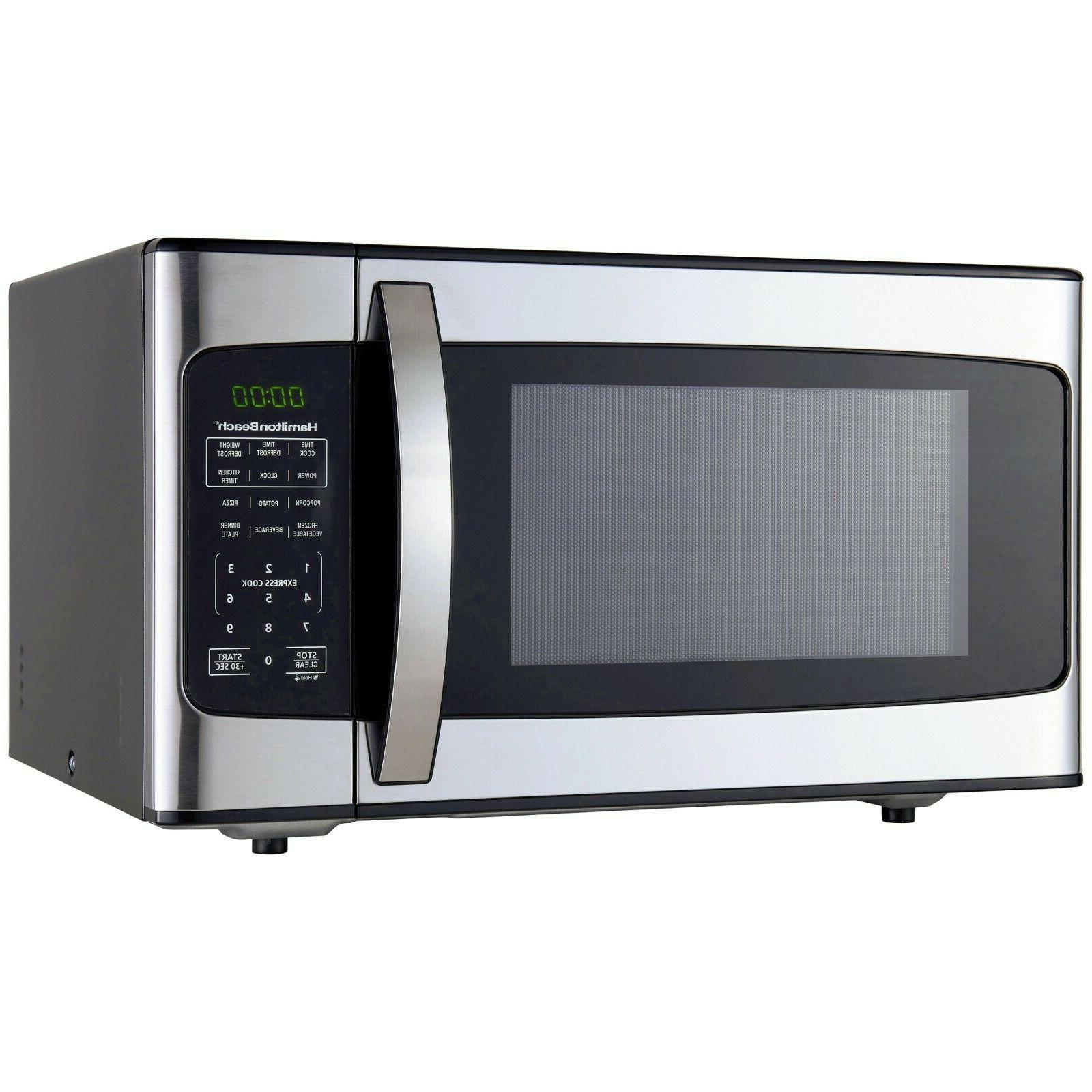 1.1 Cu-Ft. 1000 Watt Microwave Oven Stainless Steel Countert