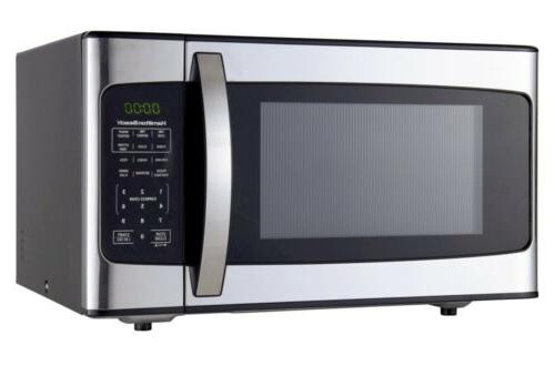 1 1 cu ft microwave black stainless