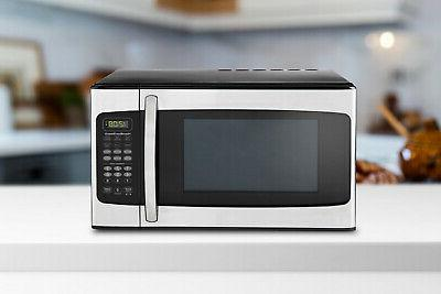 Stainless Steel Microwave Oven 1.1 Cu. Ft. 1000 Watts LED Di
