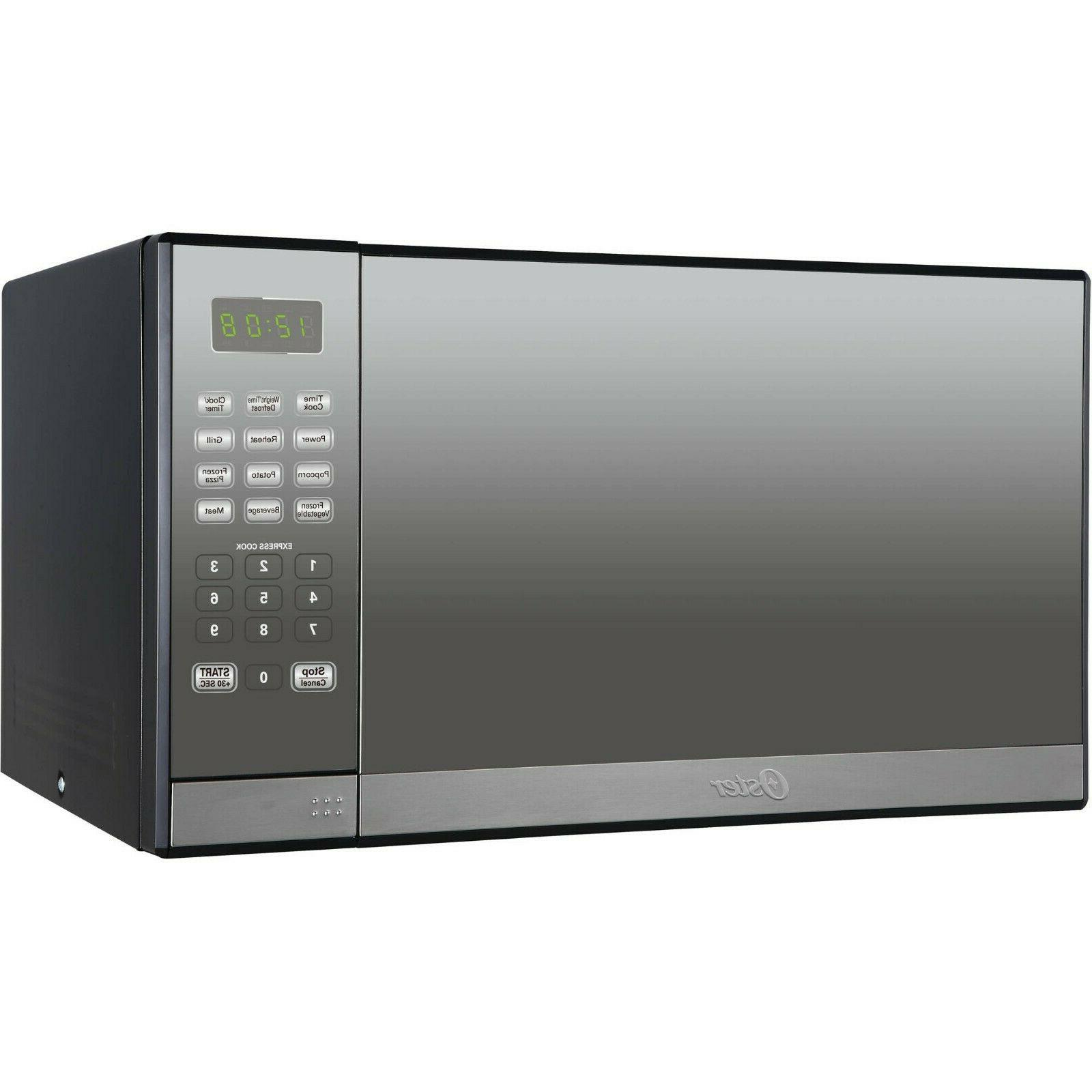 Oster 1.3 Cu. Stainless Steel with Mirror Finish Microwave Oven Grill
