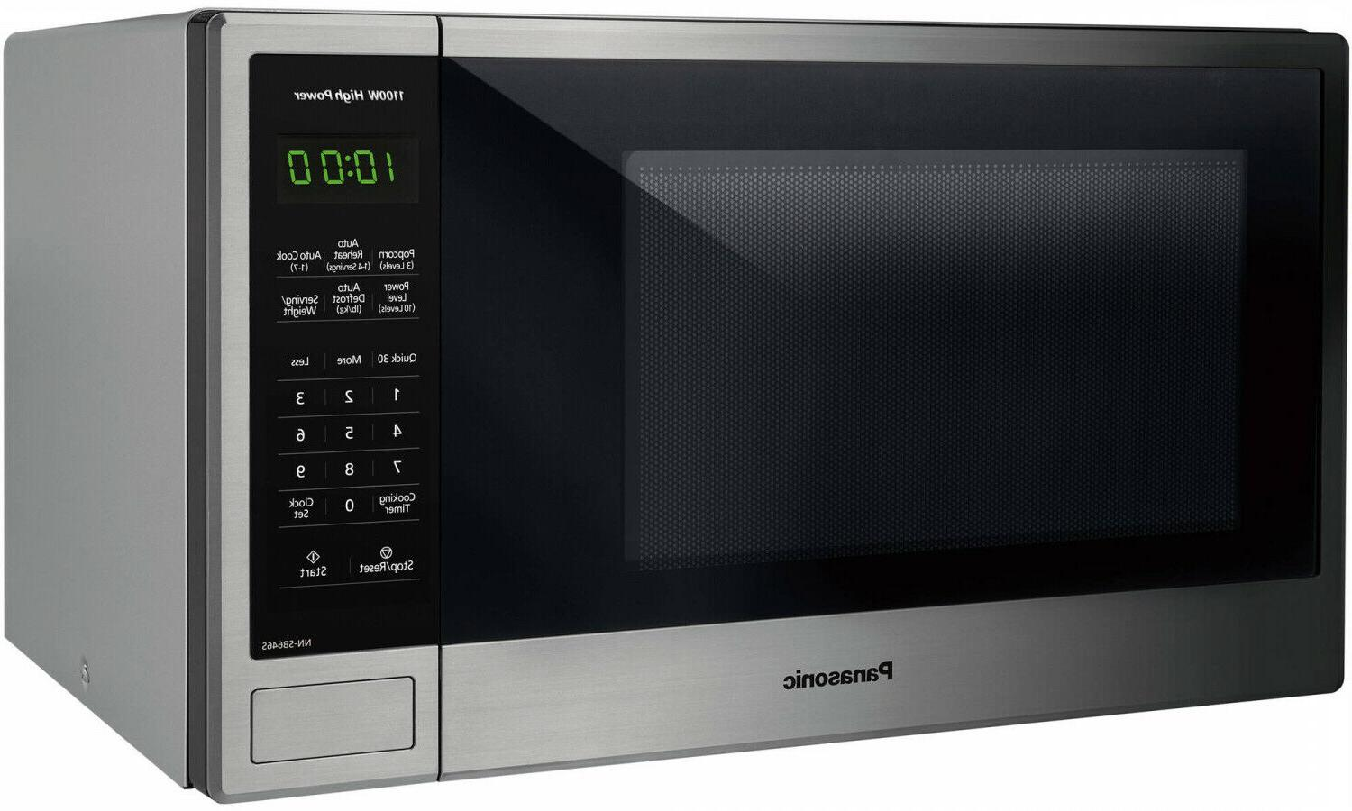 Panasonic 1.3 1100W Countertop Stainless Steel Microwave with