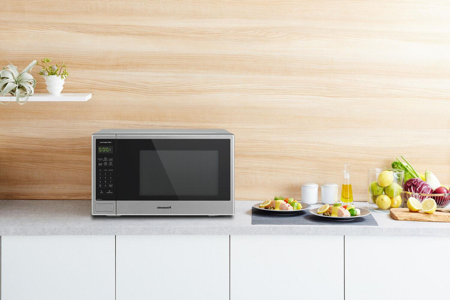 Panasonic 1.3 1100W Countertop Stainless Microwave with