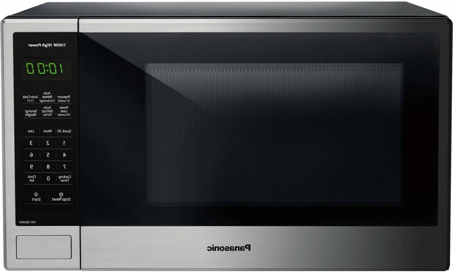 1 3 cu ft 1100w countertop stainless