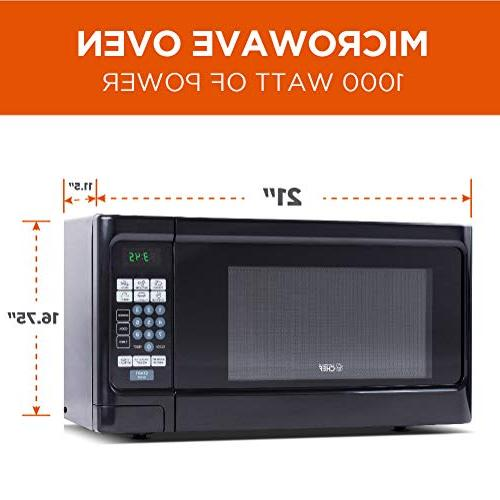 Countertop 1.1 Microwave 1000 Stainless Steel Front with Black Commercial CHCM11100B
