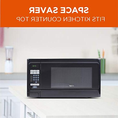 Countertop Cubic Microwave Stainless Front Black Cabinet, CHCM11100B