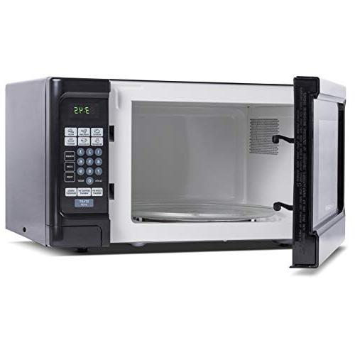 Countertop 1.1 Cubic Feet Microwave Watt, Stainless Front Black Cabinet, Commercial CHCM11100B