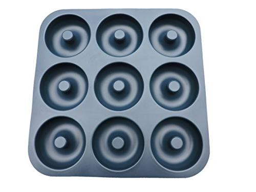 Large Professional Grade Non-Stick Silicone Donut Pan, Makes