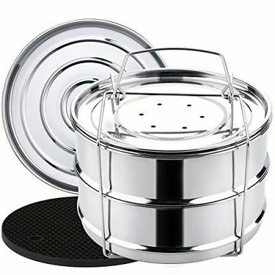 aozita stackable tier stainless steel pressure cooker steame