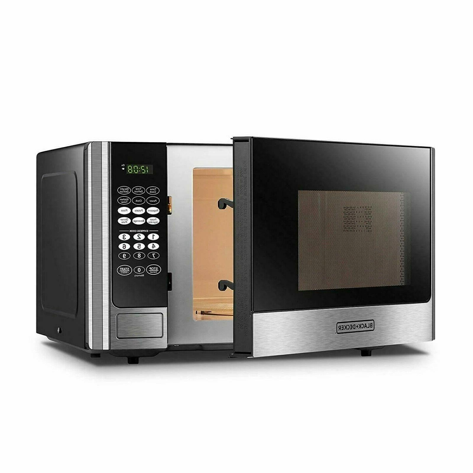 BLACK+DECKER Microwave with Push-Button