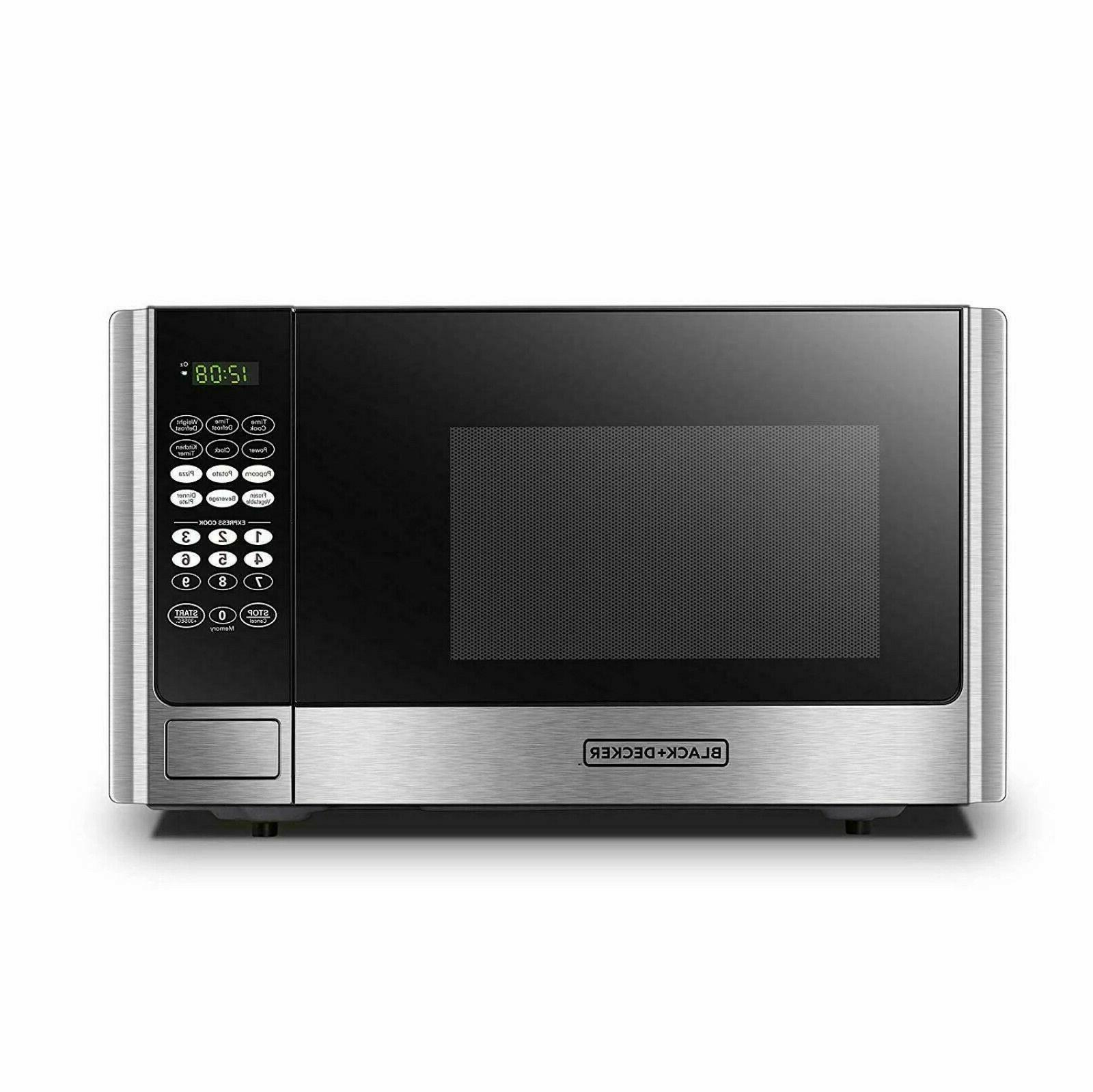 black decker digital microwave oven with turntable