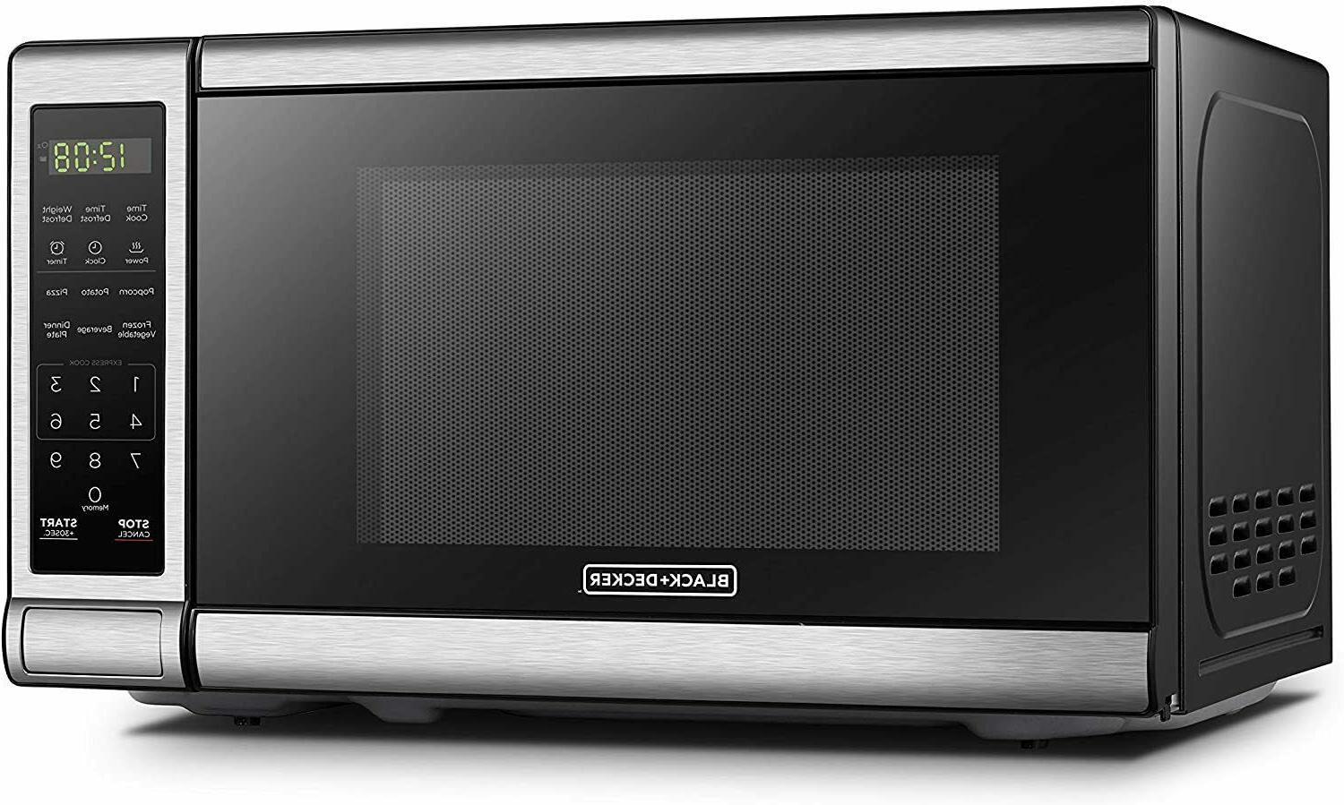 BLACK+DECKER Digital Microwave Oven, Child Safety Lock, 700W