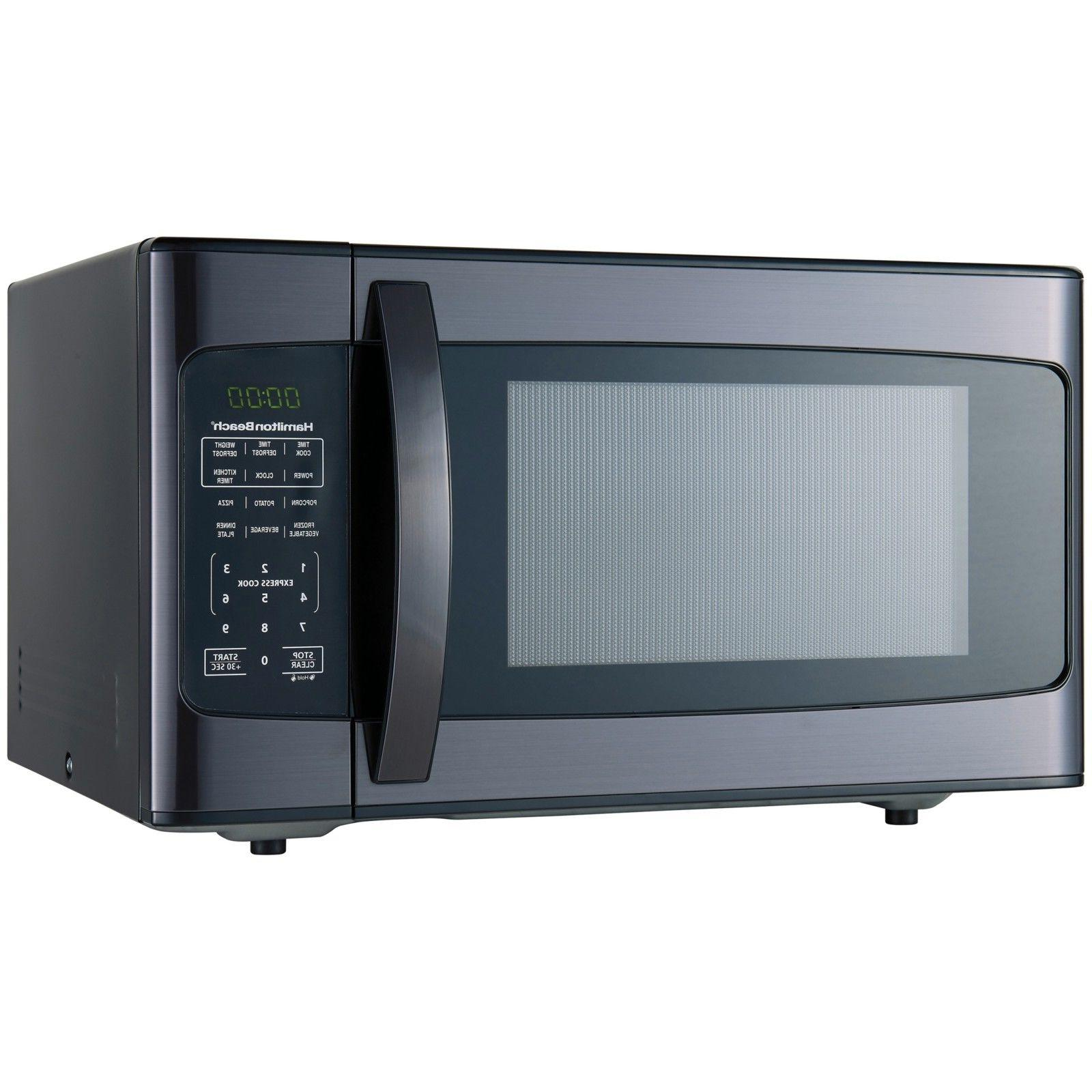 Hamilton Beach Black Microwave 1.1 cu.ft. 1000 Watt Stainles
