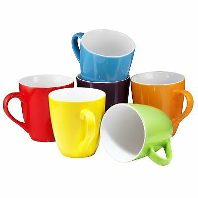Coffee Cups Mugs Set of 6 Large-sized 16 Ounce Ceramic Coffe