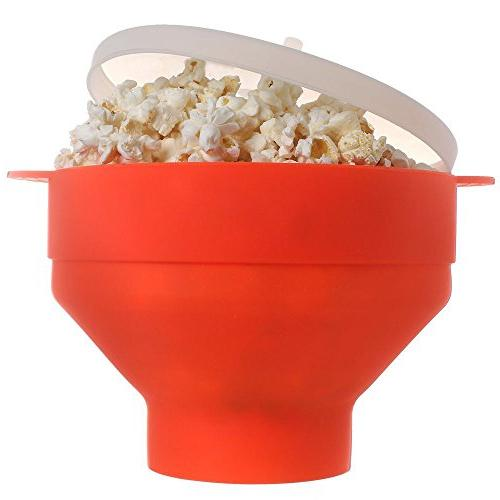 collapsible microwave popcorn popper
