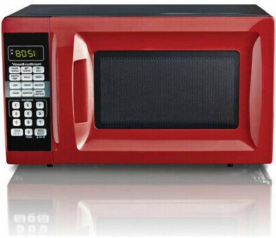countertop 0 7 cu ft red microwave