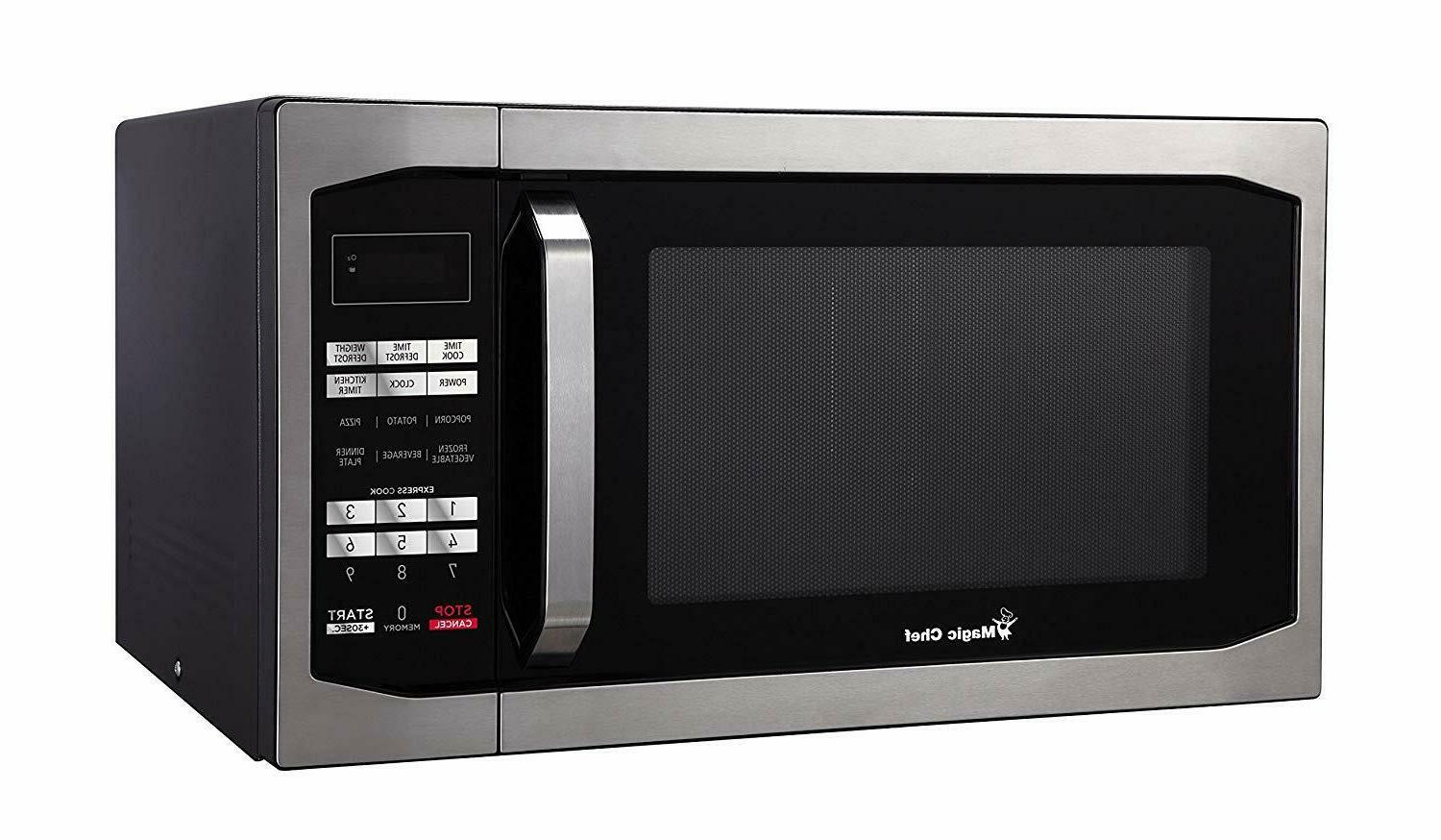 Magic Chef Countertop Microwave 1.6 cu. Gray Cavity Stainless