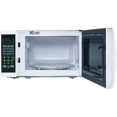 Small Cu. White Microwave Power Levels Kitchen