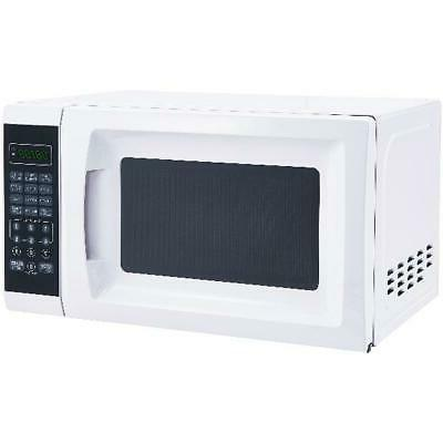Small 0.7 Cu. Ft. White Microwave Oven 10 Power Levels