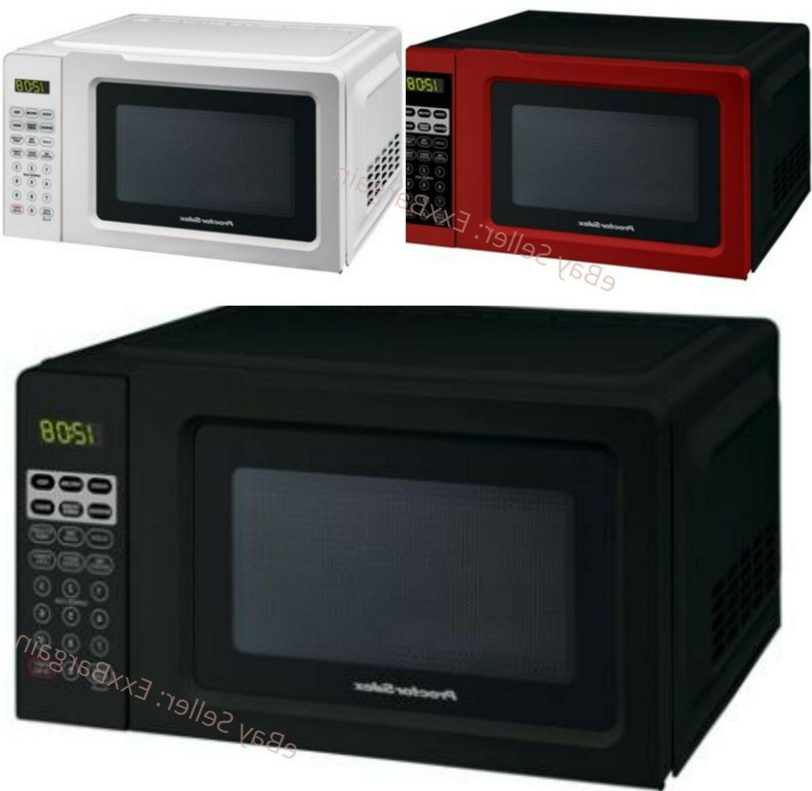 Digital Countertop Kitchen Office Microwave Red, White