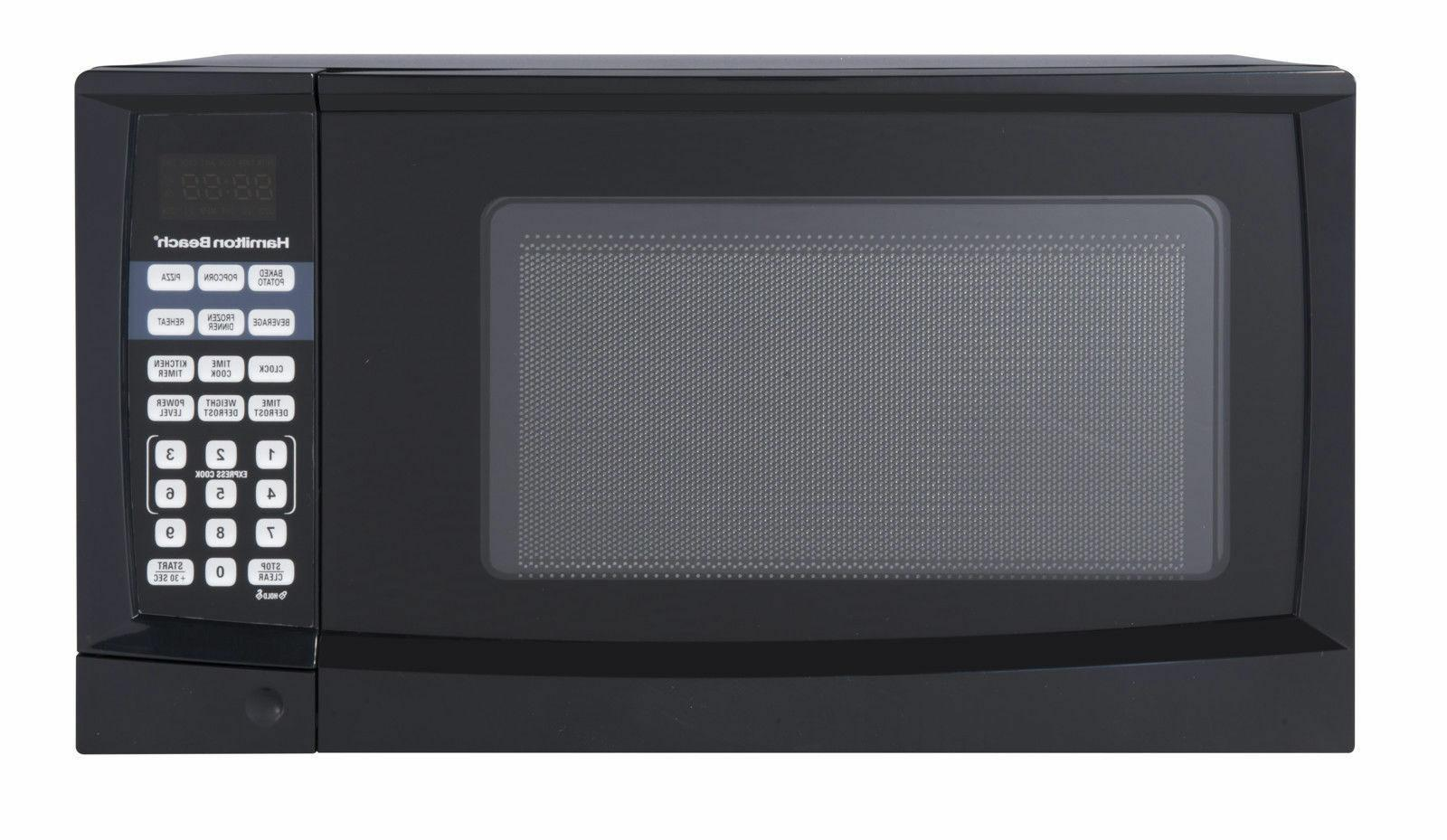 Hamilton Beach - Digital Microwave - 0.9 Cu Ft - Black - HB-