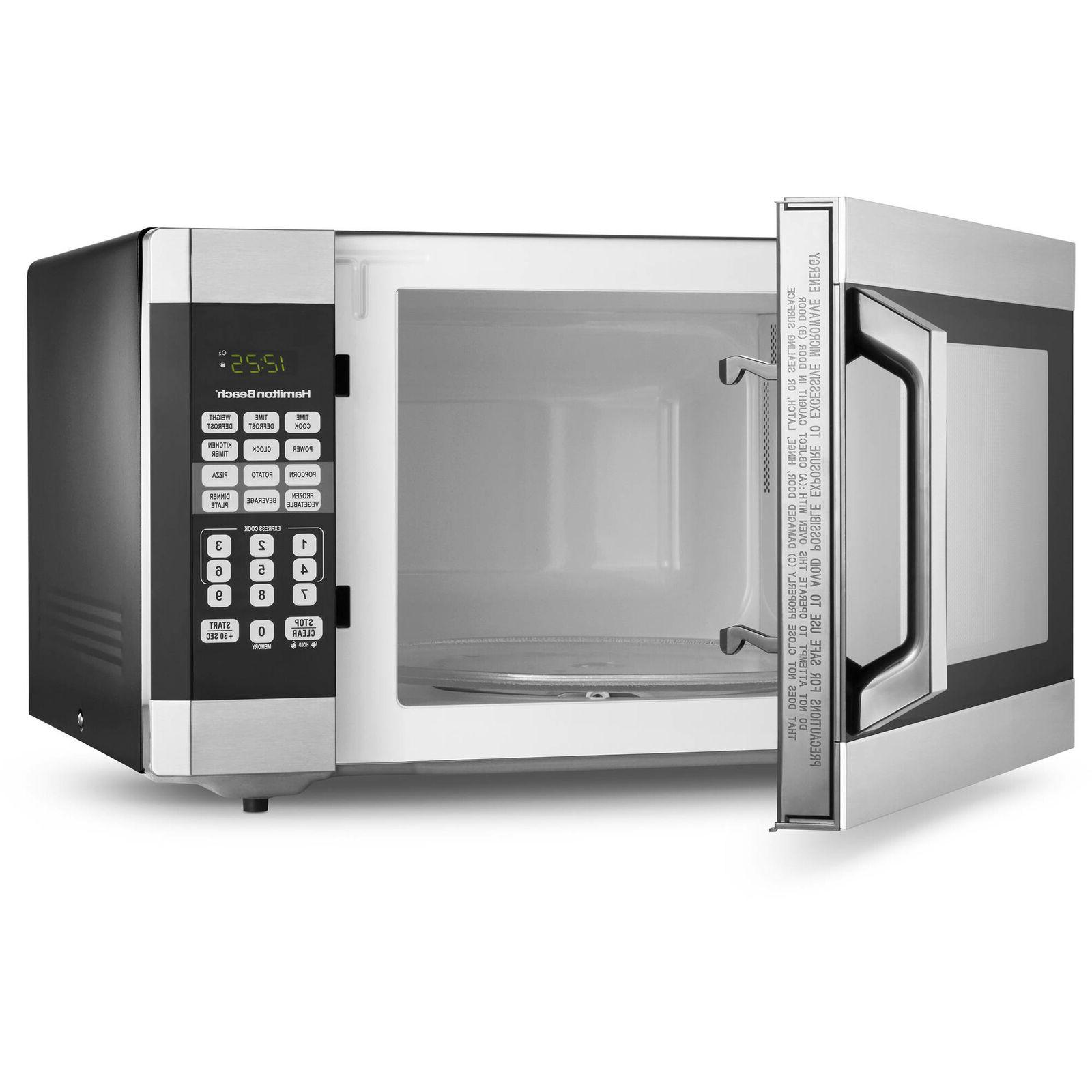 Microwave Oven 1.6 Cu Ft Countertop Stainless Steel 1 Touch