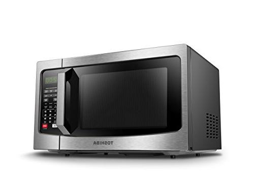 Toshiba EM131A5C-SS Microwave Oven with Smart Sensor, Clean ECO and On/Off, Cu.ft, 1100W,