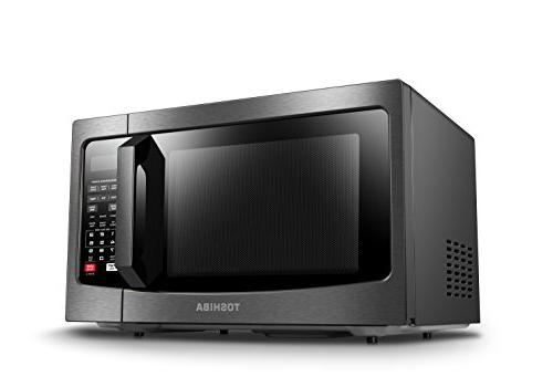 Toshiba EM131A5C-BS Microwave Oven with Sensor, Easy Clean ECO Mode and 1.2 Cu.ft, 1100W, Steel