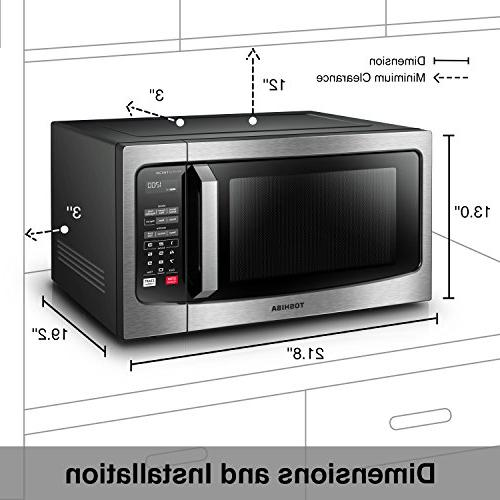 Toshiba EM245A5C-SS Oven with Technology, LCD Display Smart 1.6 Cu.ft/1250W, Stainless Steel